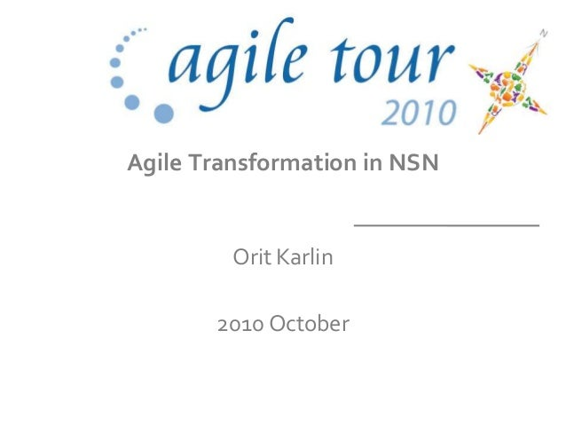 agile transition in nsn
