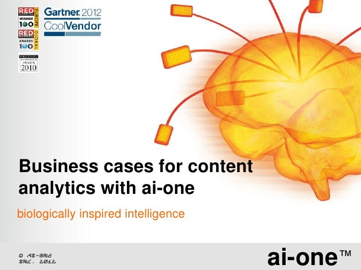02 ai-one - content analytics business cases