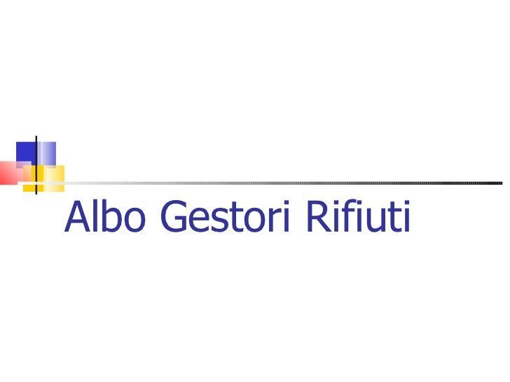 02 Albo Gestori Rifiuti