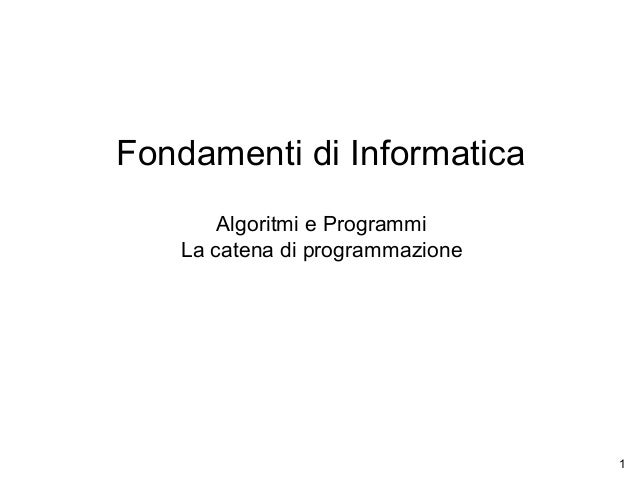 02 algo programmi