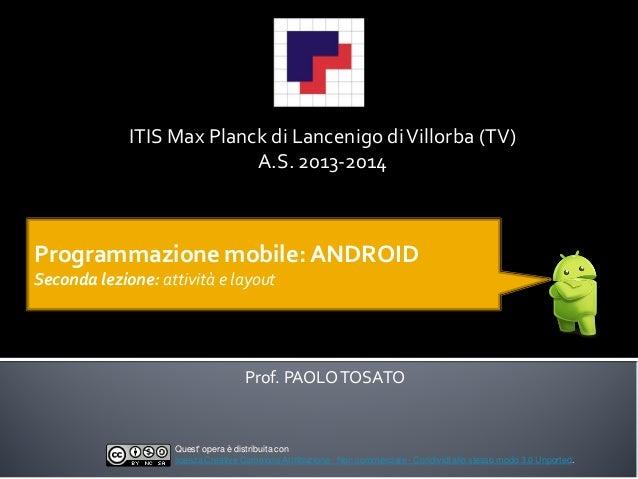 Programmazione mobile: ANDROID