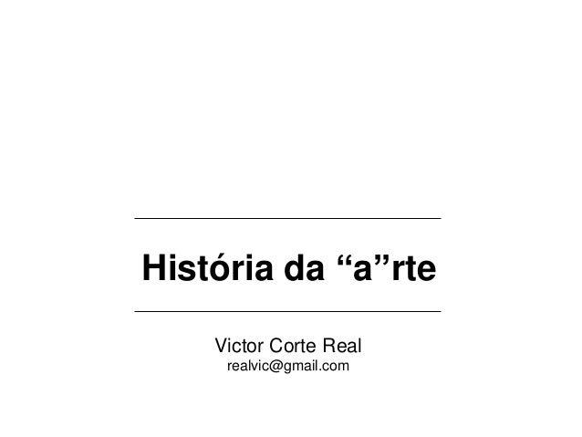 História da Arte (baseado na obra de Gombrich)