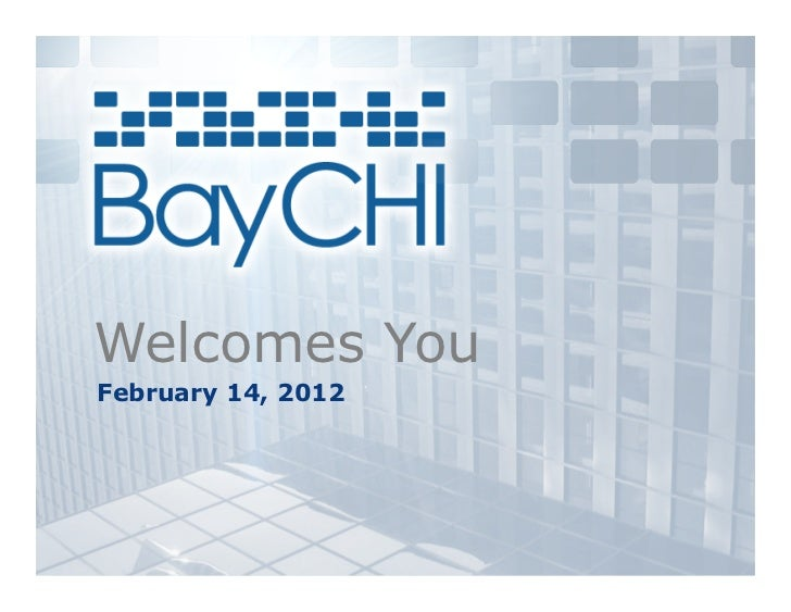 Welcomes YouFebruary 14, 2012
