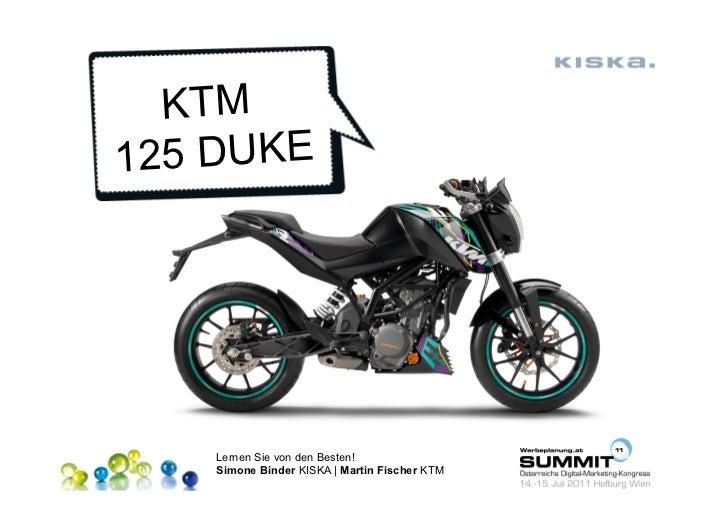 KTM125 DUKE    Lernen Sie von den Besten!    Simone Binder KISKA | Martin Fischer KTM