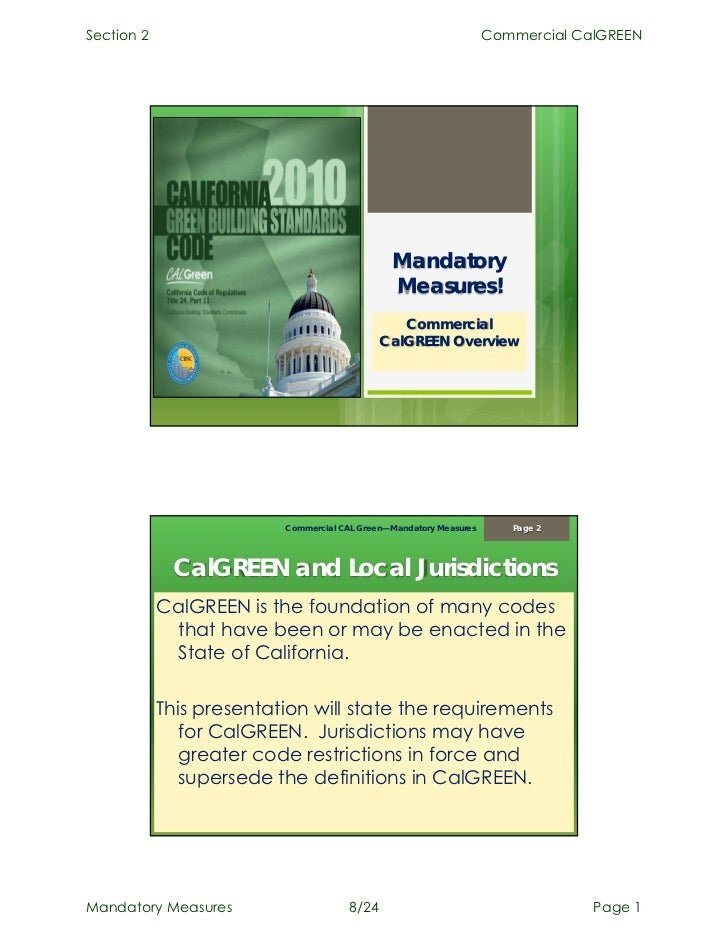 Commercial CalGreen - Mandatory Measures