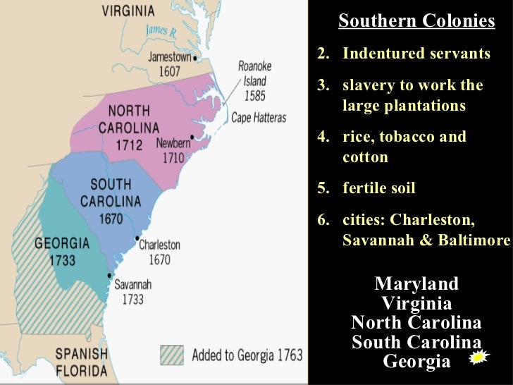 new colonies of virginia maryland north As displeasure with british rule spread through the colonies, new england saw the southern colonies of maryland, virginia, north overview-of-colonial-america.