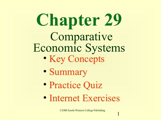 Chapter 29   ComparativeEconomic Systems • Key Concepts • Summary • Practice Quiz • Internet Exercises     ©2000 South-Wes...