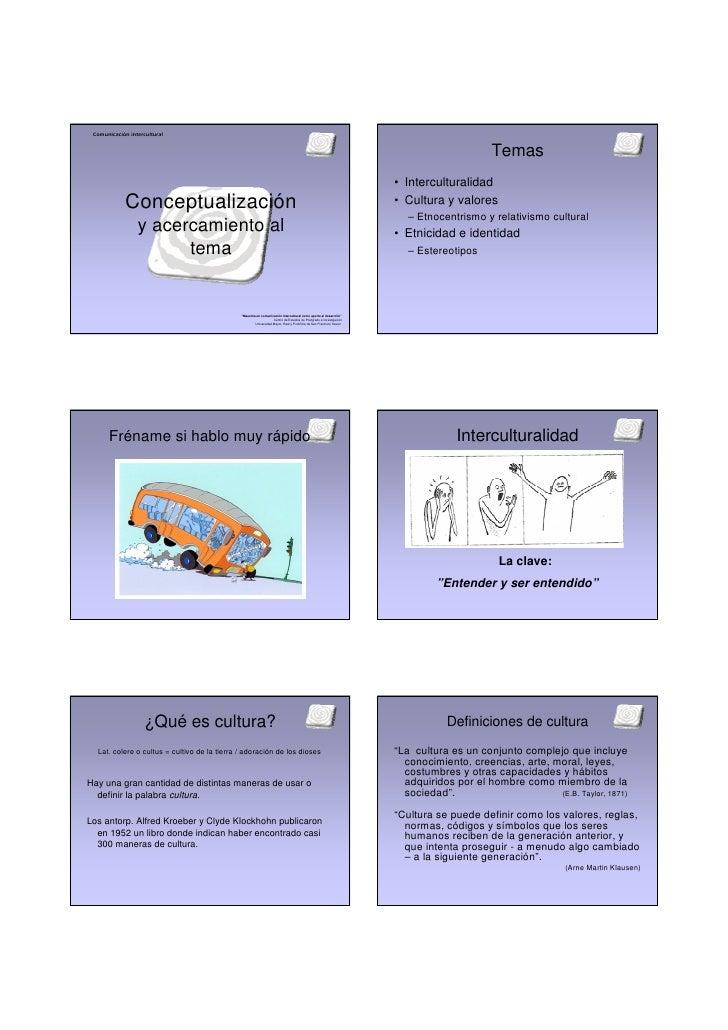 Comunicación intercultural                                                                                                ...