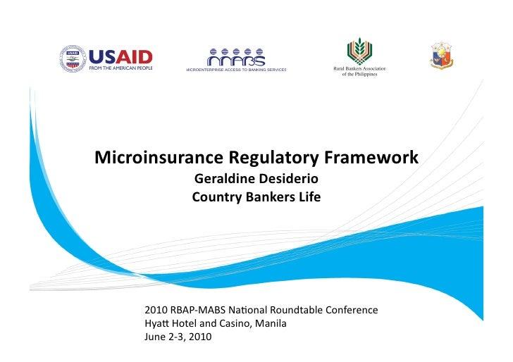 Microinsurance Regulatory Framework
