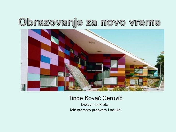 Tinde Kovač Cerović Državni sekretar Ministarstvo prosvete i nauke