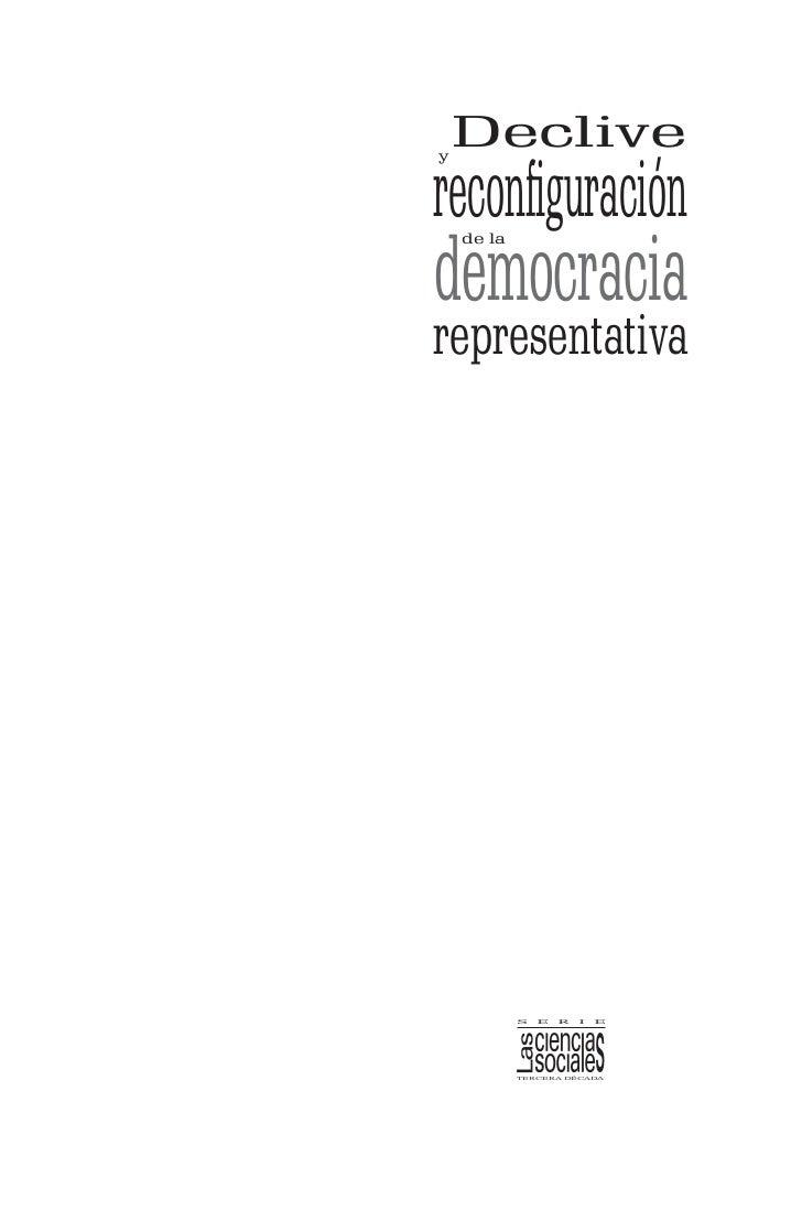 Declivereconfiguraciónydemocracia    de larepresentativa            s   e   r   i   e            tercera década