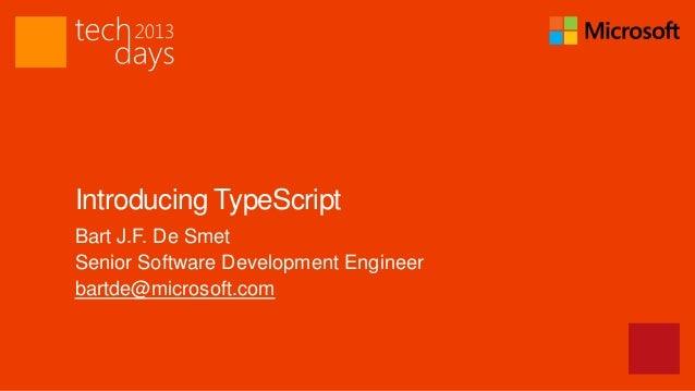 Introducing TypeScript