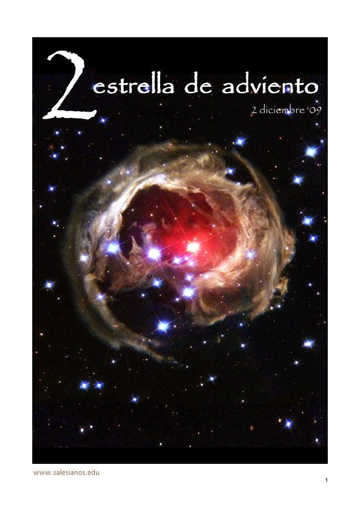 2              estrella de adviento                             2 diciembre '09     www.salesianos.edu                    ...