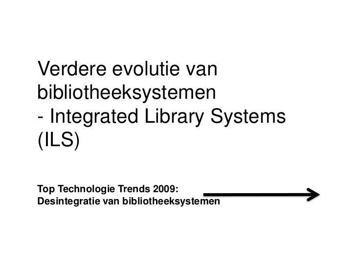 TTT11 - Evolutie van bibliotheeksystemen