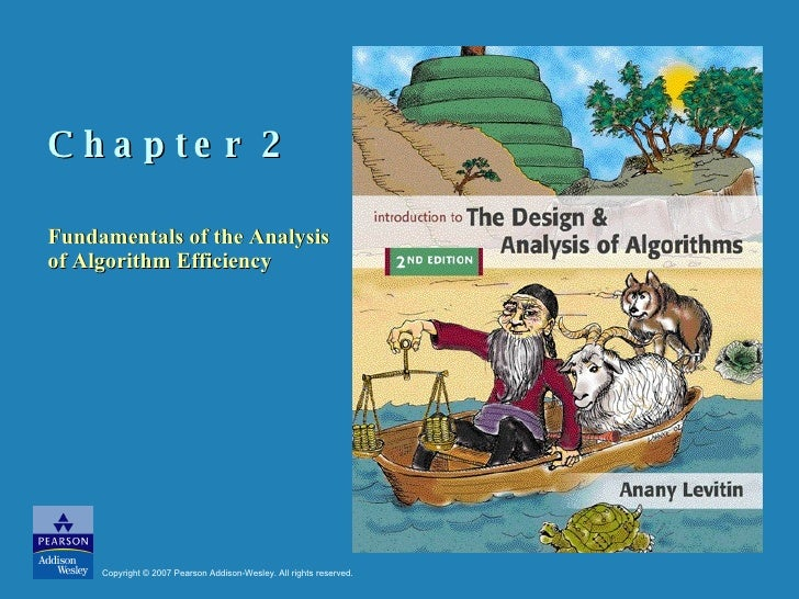 Chapter 2  Fundamentals of the Analysis of Algorithm Efficiency Copyright © 2007 Pearson Addison-Wesley. All rights reserv...