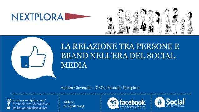 La relazione tra persone e brand nell'era dei social media