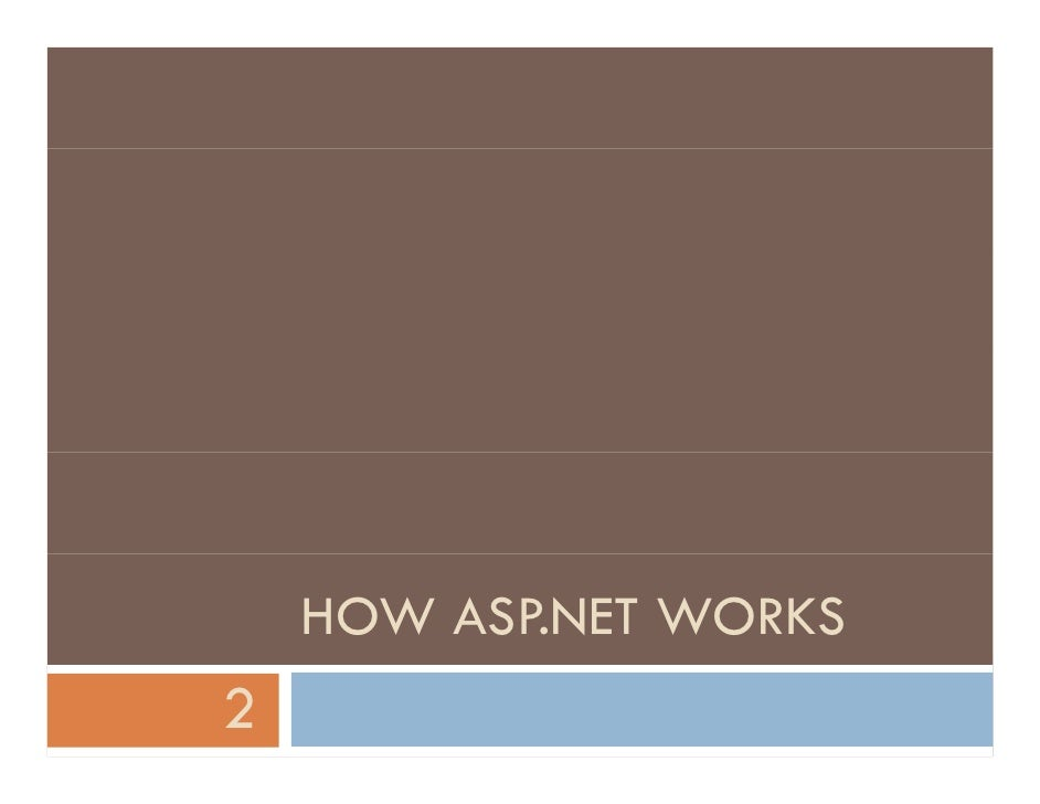 HOW ASP.NET WORKS 2