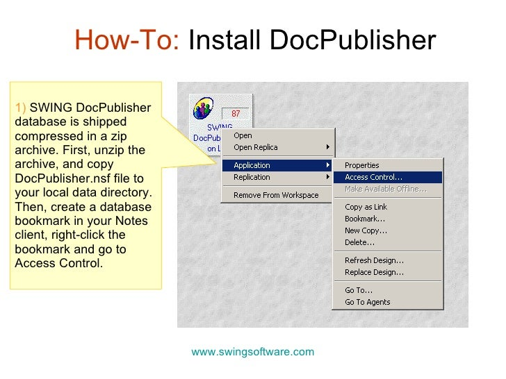 DocPublisher - How To Install