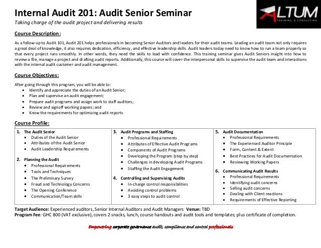 audit workpaper template - internal audit programs