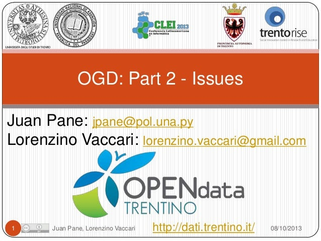 Open Government Data Tutorial at CLEI 2013. Part 2 - Issues