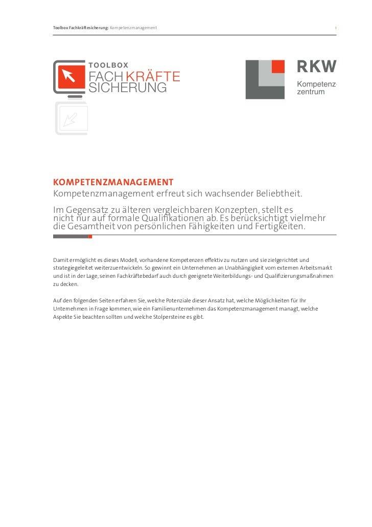Toolbox Fachkräftesicherung: Kompetenzmanagement                                                               1Kompeten...