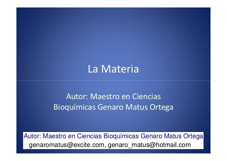 x                                          . m                                    o m                     La Materia      ...