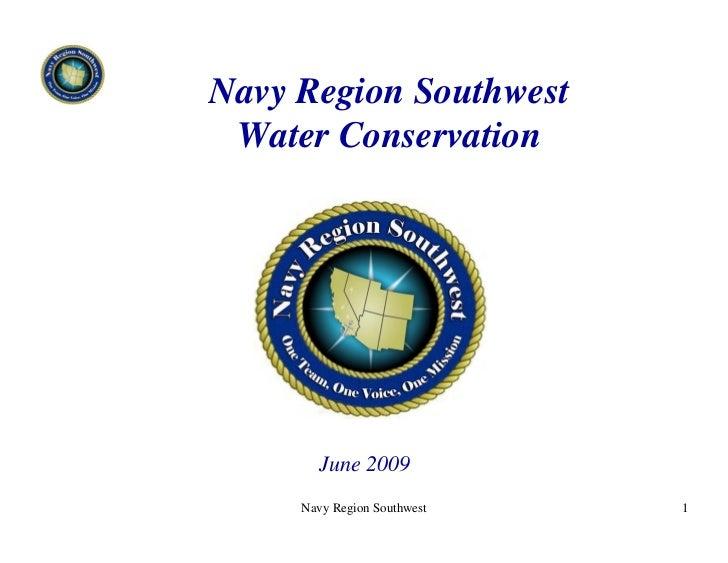 Navy Region Southwest Water Conservation -  U.S. Navy