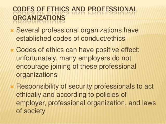 code of ethics and security In support of this principle, all certified information systems security professionals (cissps) commit to fully support this code of ethics.