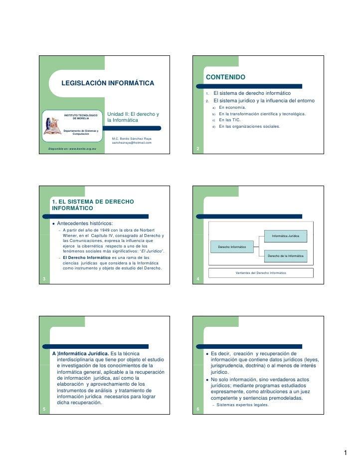 02 Legislacion Informatica   El Derecho Y La Informatica