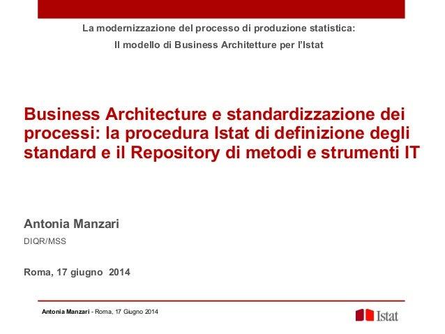 A mazari business architecture e standardizzazione dei for E business architecture