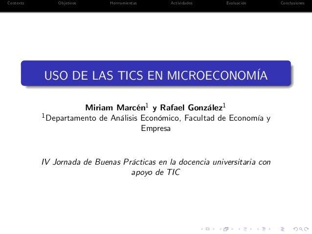 USO DE LAS TICS EN MICROECONOMÍA