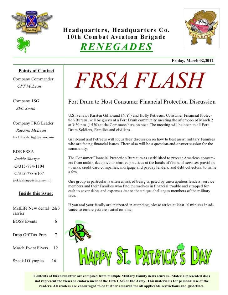 FRSA FLASH March 2