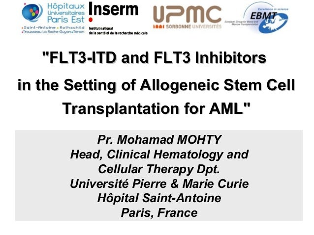 """FLT3-ITD and FLT3 Inhibitors""FLT3-ITD and FLT3 Inhibitors in the Setting of Allogeneic Stem Cellin the Setting of Allogen..."