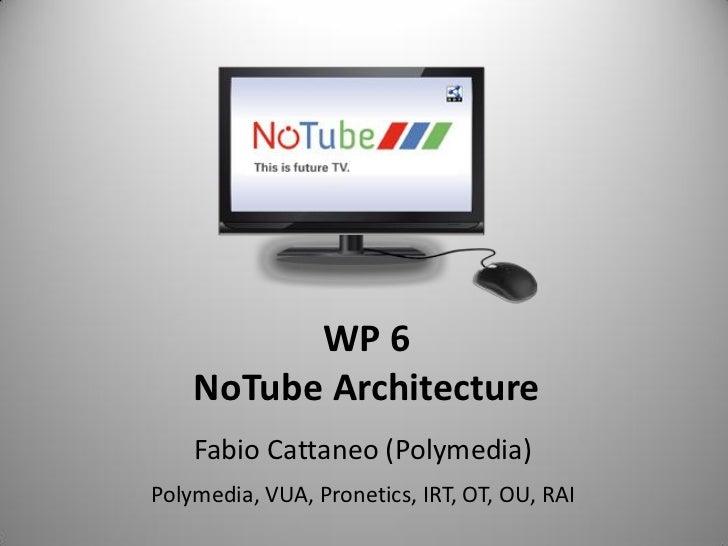 WP 6    NoTube Architecture    Fabio Cattaneo (Polymedia)Polymedia, VUA, Pronetics, IRT, OT, OU, RAI