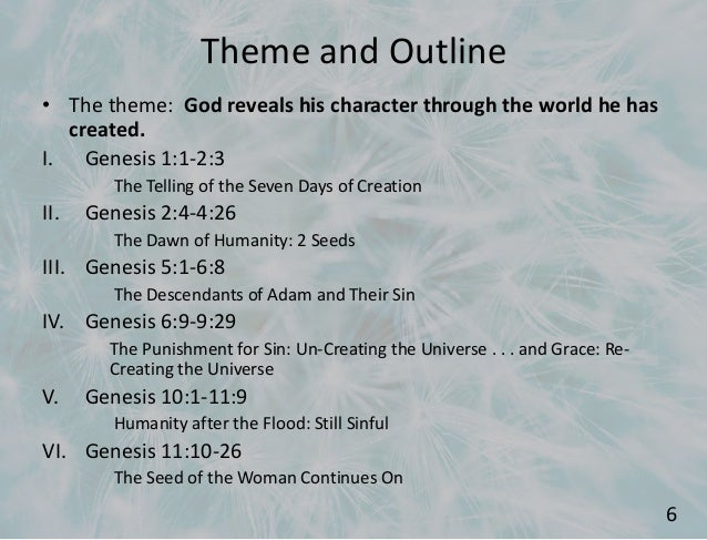 Themes From Genesis 1 11 Mlareferencing X Fc2 Com