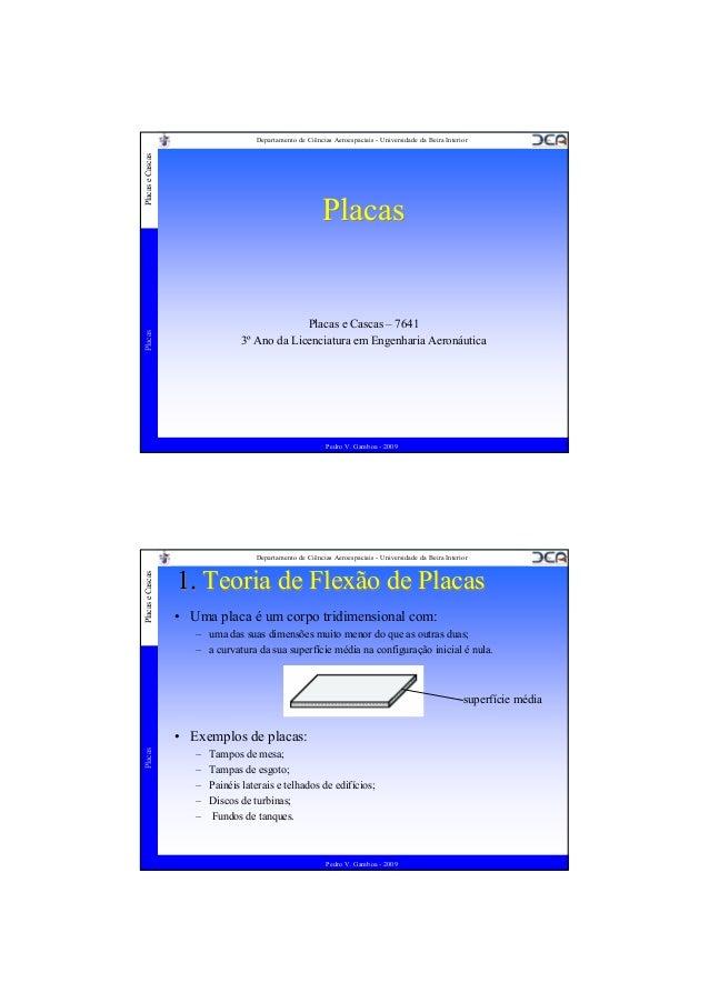 Placas e Cascas  Departamento de Ciências Aeroespaciais - Universidade da Beira Interior  Placas  Placas  Placas e Cascas ...