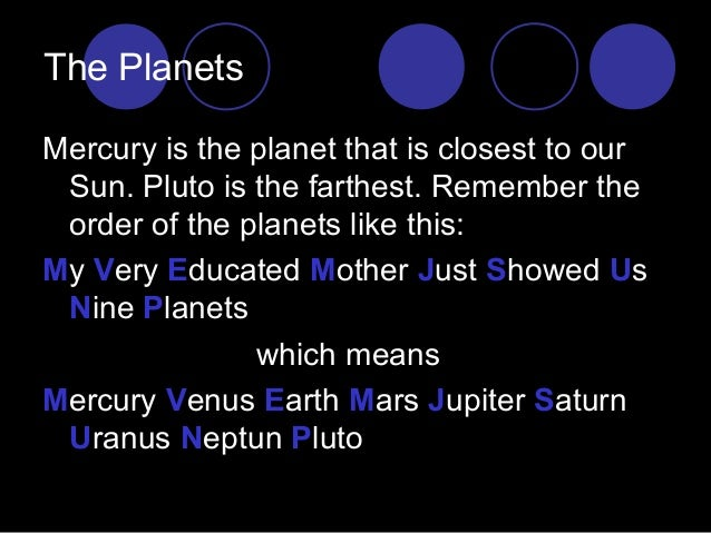 ways to memorize the planets - photo #25