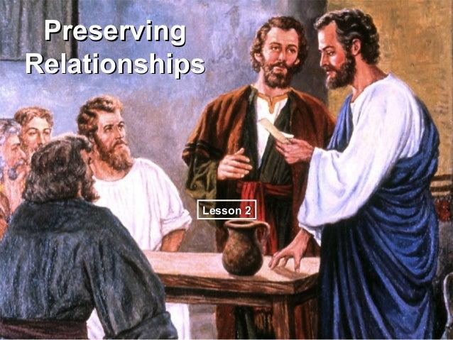 PreservingRelationships            Lesson 2