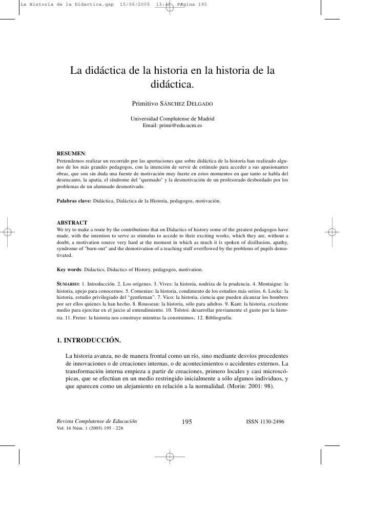 La Historia de la Didactica.qxp          15/06/2005        13:42     PÆgina 195                 La didáctica de la histori...
