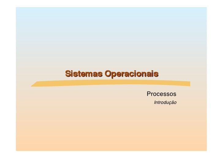 Processos            Introdução