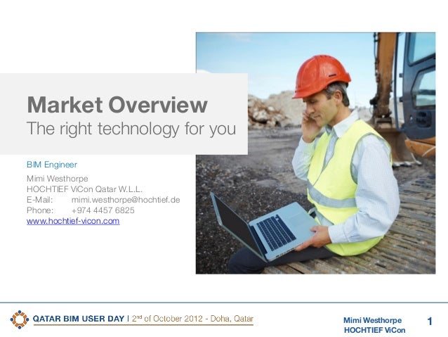 2nd Qatar BIM User Day Market overview: what is available?