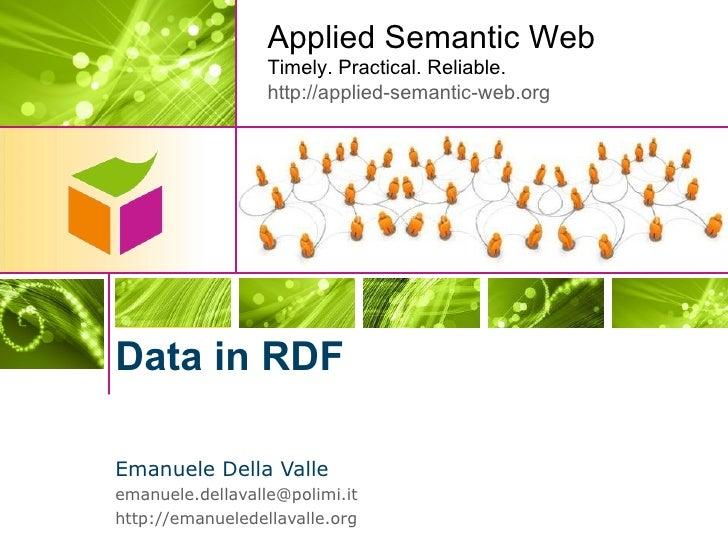 Data in RDF