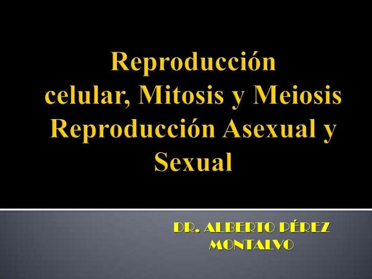 Reproducción celular, Mitosis y MeiosisReproducción Asexual y Sexual<br />DR. ALBERTO PÉREZ MONTALVO<br />