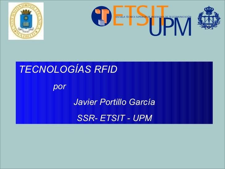 UIMP: Tecnologias RFID