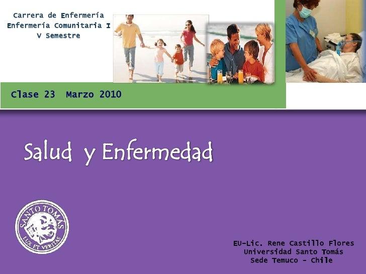 Carrera de Enfermería Enfermería Comunitaria I        V Semestre     Clase 23     Marzo 2010                              ...