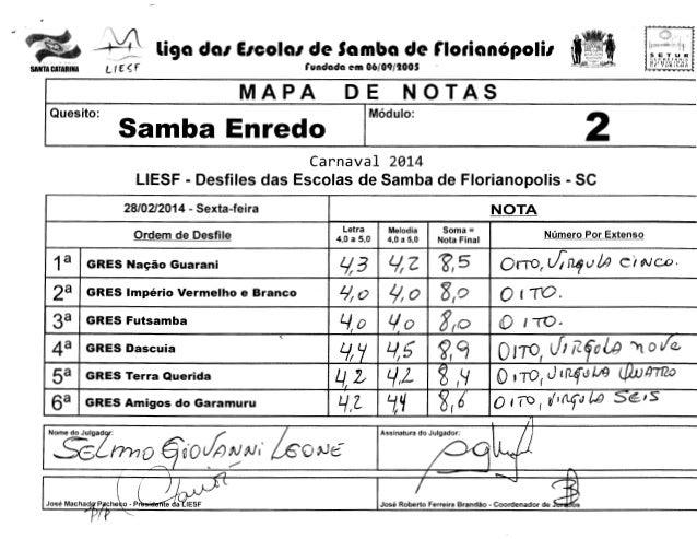 .  -  i  /·,.','  SANTA CATUINA  -W tr L  ~  liga da1 E1cola1 de Samba de florian6poli1  f  rundada em 06/09/1005  MAPA Qu...