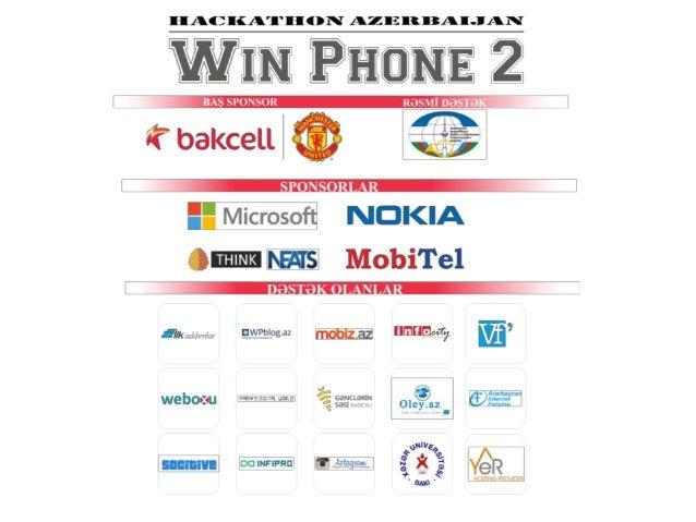 TƏTBİQLƏR                      Rəşad Əliyev               Hackathon Azerbaijan                      13 Mart 2013     JW Ma...
