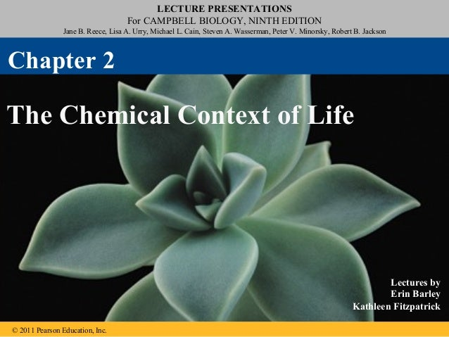 02 the chemical context of life