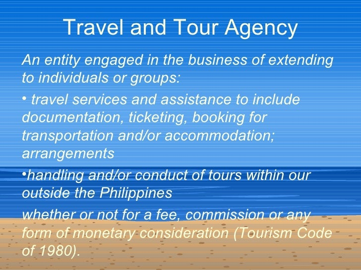 functions of departments in a tour operating company A travel agency is a private retailer or public service that provides travel and tourism related for those who sell package holidays on behalf of a tour company.