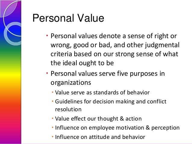Personal principles and values essay